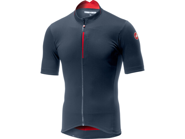 Castelli Espresso Maillot de cyclisme Homme, dark/steel blue/red